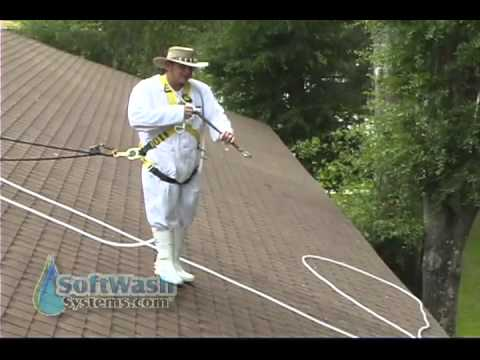 Proper Roof Cleaning Spraying Techniques Youtube