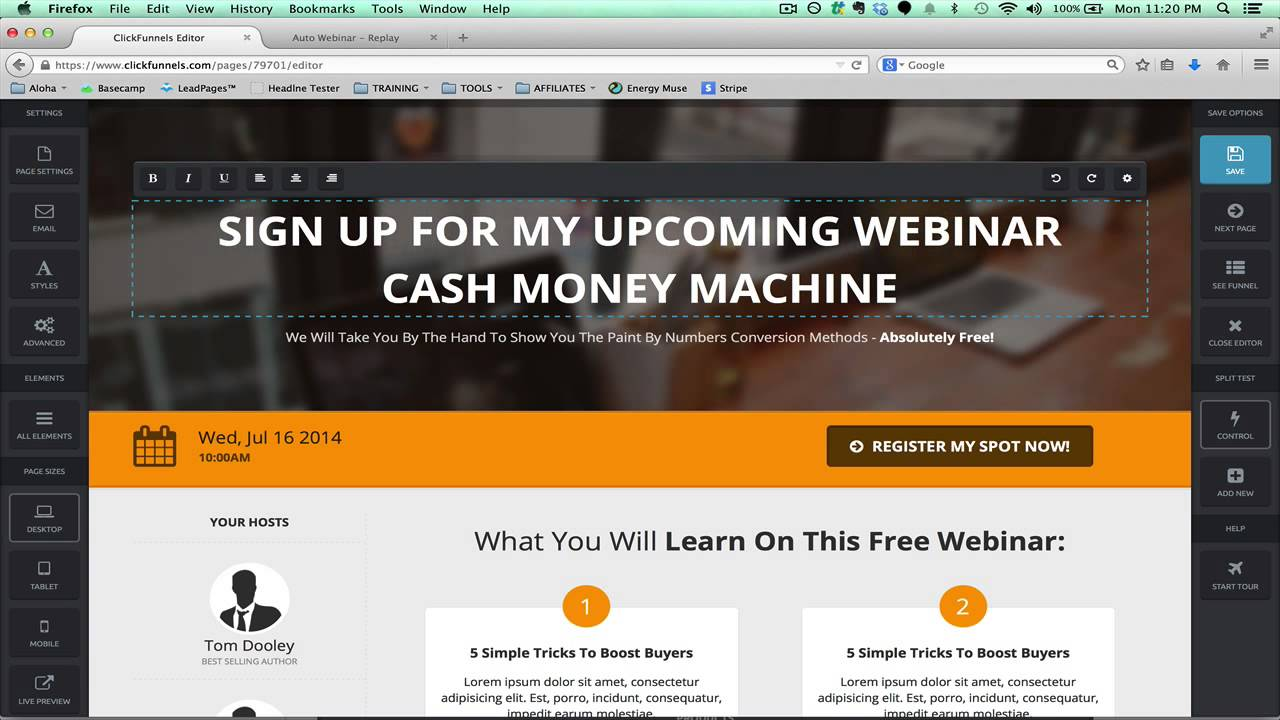 Not known Details About Clickfunnels Webinar