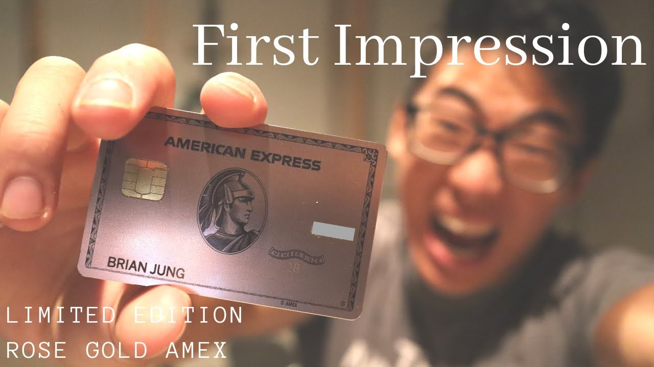 🚀NEW Unboxing AMEX LIMIITED EDITION ROSE GOLD CARD