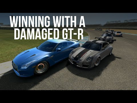 Real Racing 3 Gameplay: Winning With A Damaged GT-R