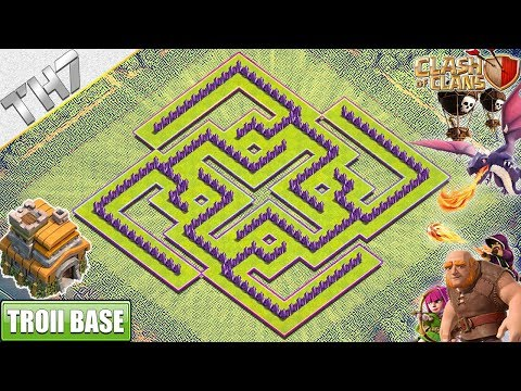 NEW Town Hall 7 Troll Base With REPLAY 2019 | TH7 Base With COPY LINK - Clash Of Clans