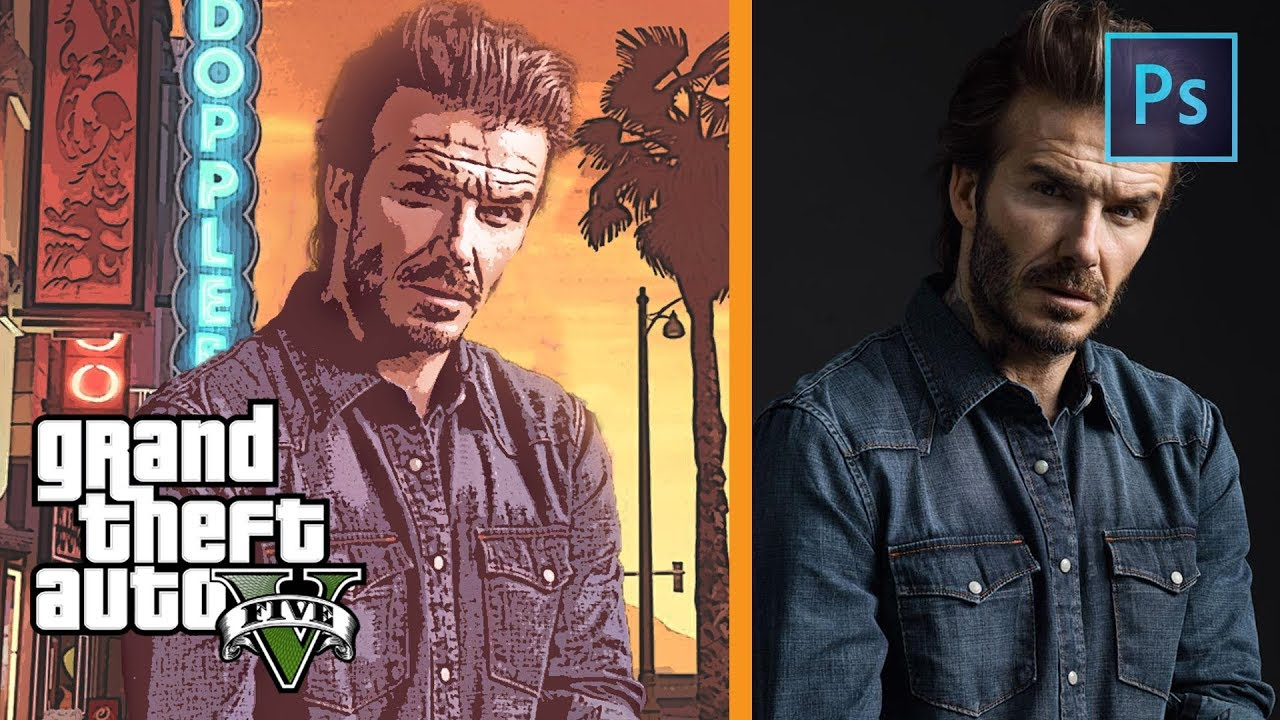 Photoshop Tutorial Simple Way To Make Gta Style Effect
