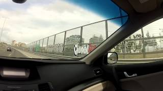 Honda Accord Tourer pursuit by Honda Jazz
