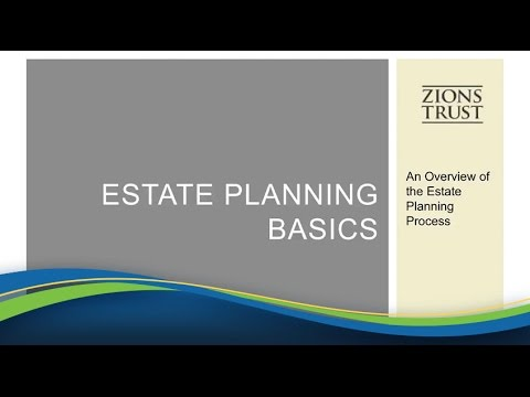 Trust And Estate Planning [Webinar]