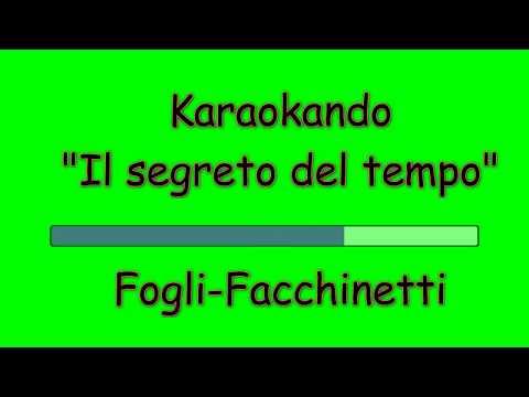 Karaoke Italiano - Il segreto del tempo - Roby Facchinetti - Riccardo Fogli ( Testo )