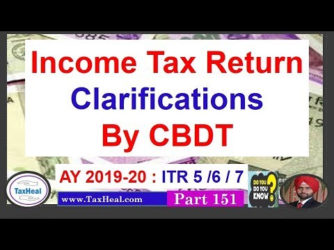 Breaking News I ITR Clarification Issued By CBDT Circular 26 Of 2019