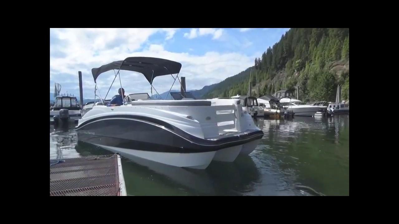 Biltmore Fiberglass Pontoon Boat - 1