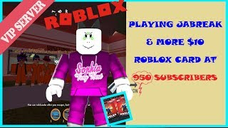 Roblox Jailbreak live stream SIMON SAYS (VIP SERVER)