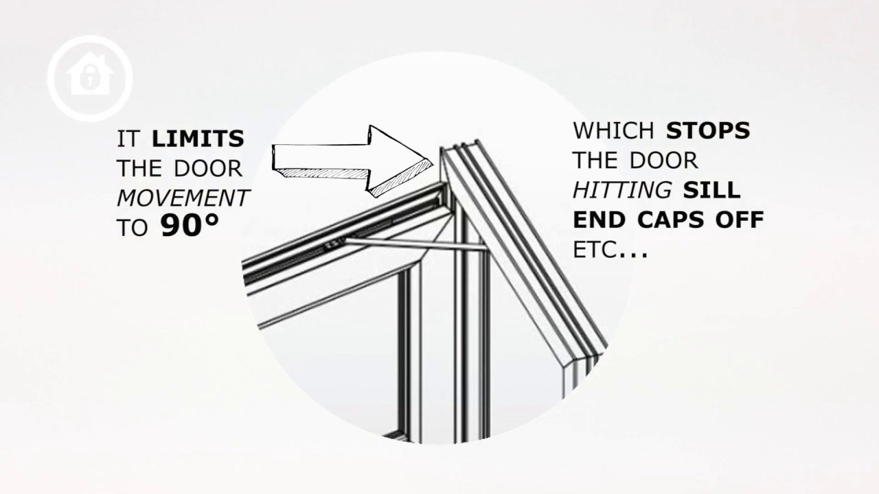 Upvc Door Restrictor Stay Fitting Instructions Youtube