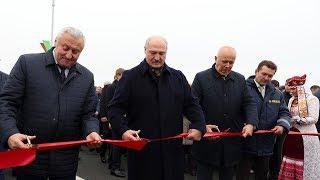 Александр Лукашенко принял участие в торжественной церемонии открытия моста через Припять