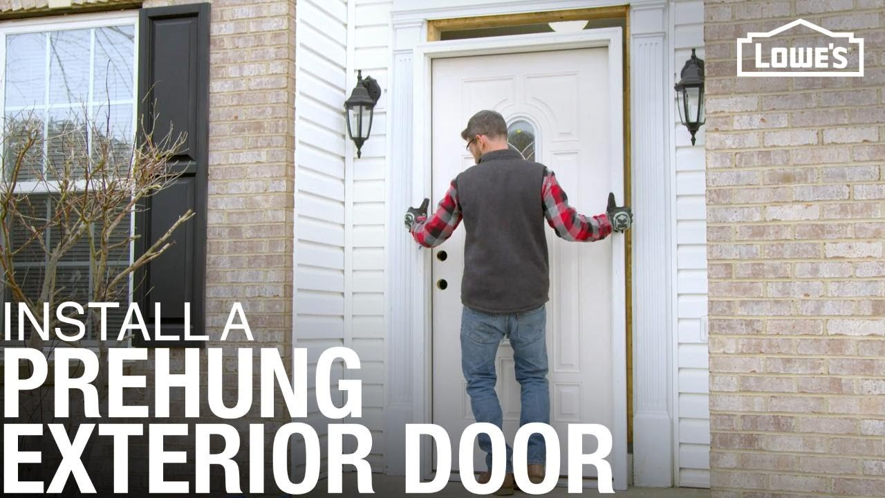 How To Install A Prehung Exterior Door Youtube