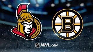 Ottawa Senators vs Boston Bruins NHL Game Recap