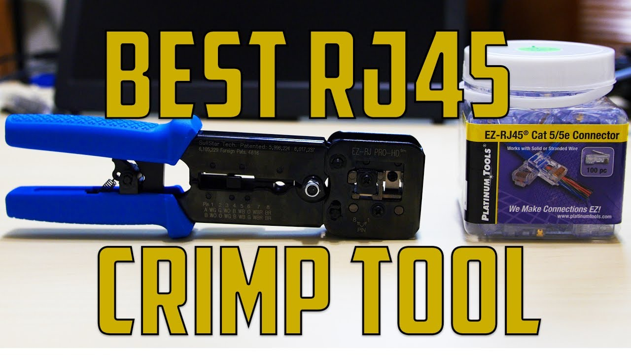 Best Rj45 Crimping Tool Youtube Wiring A Cat5 Modular Jack
