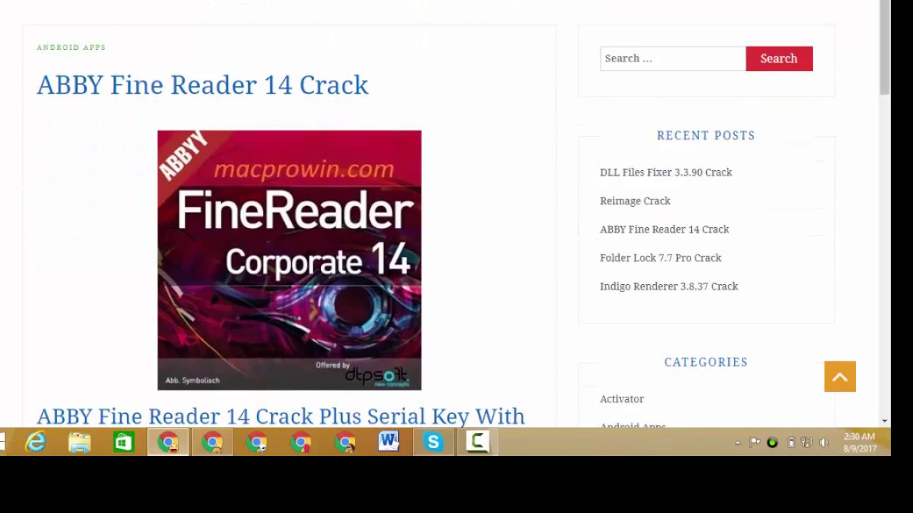 abbyy finereader 14 serial number and crack