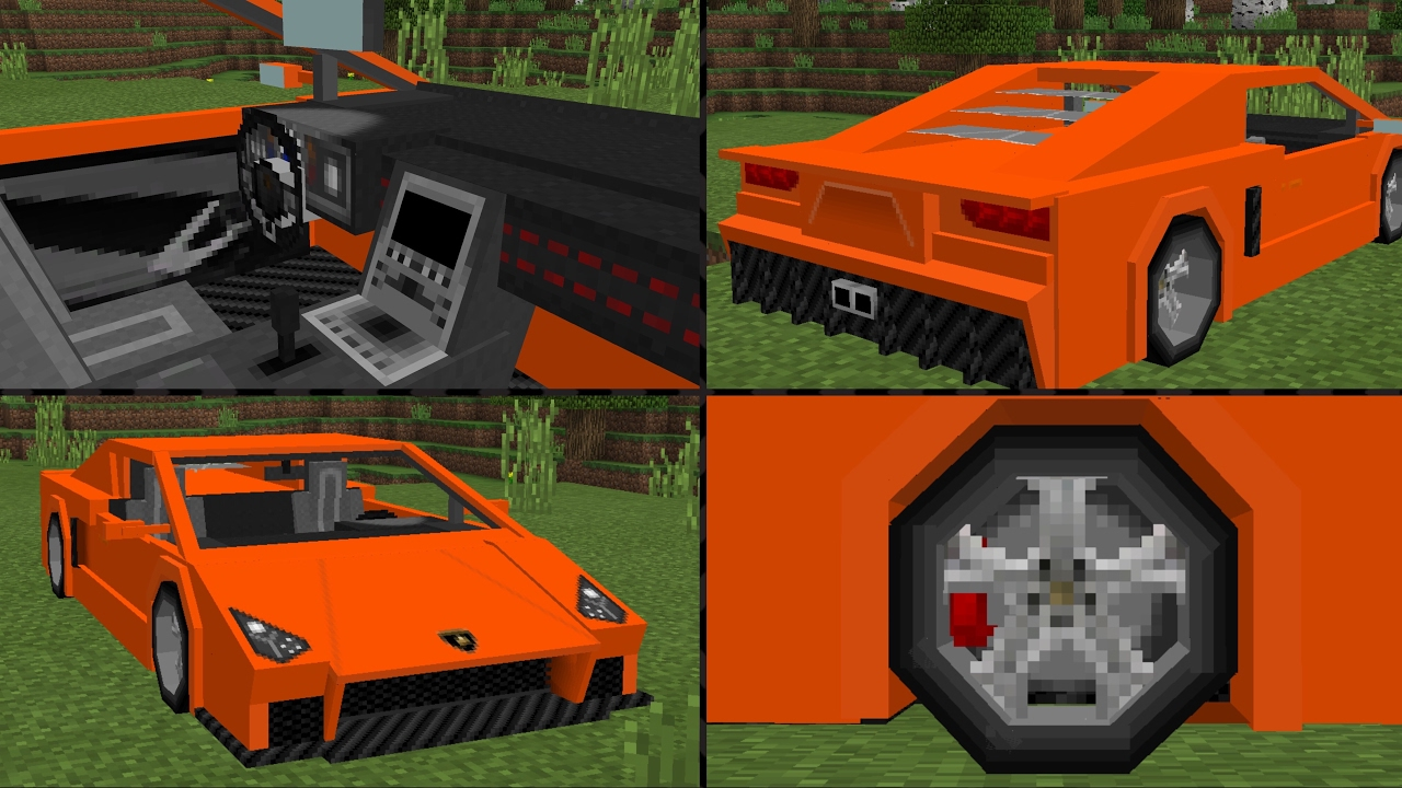 how to build a lambo on minecraft