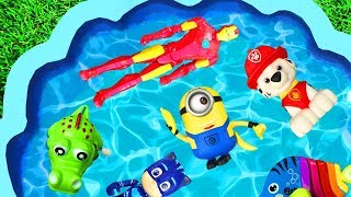 Learn Colors with Paw Patrol, Pj Masks and Iron Man - Learning Toys Characters for Kids and Children
