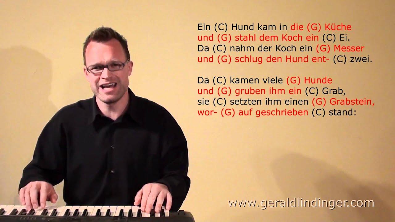 Gerald Lindinger: Ein Hund kam in die Küche / C / schnell - YouTube