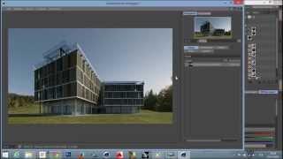 Визуализация экстерьера Cinema 4D + vRay