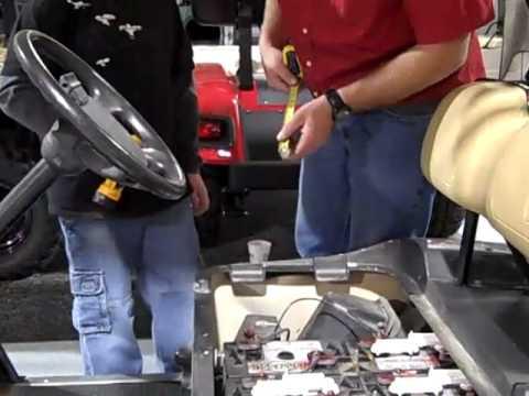 Wiring Diagram For A Golf Cart Golf Cart Battery Maintenance Youtube