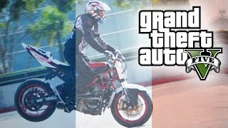 "GTA 5 AMAZING BIKE STUNTS ""PrayForParis"" (GTA V Stunt Montage)"