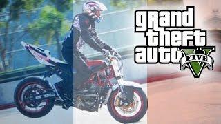 GTA 5 AMAZING BIKE STUNTS