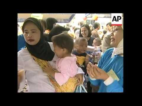 Indonesia kicks off mass polio vaccination campaign