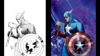 Inking/Painting Captain America God of Thunder