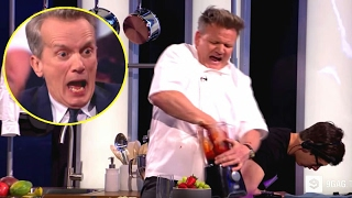 Gordon Ramsay cuts his finger in blender ( WARNING GRAPHIC )