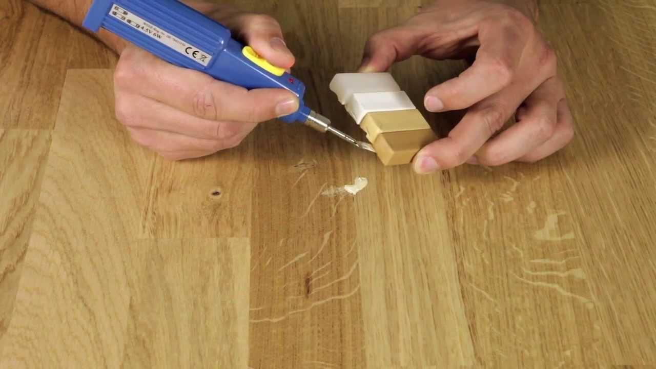 reparatur eines kratzers in lackierter holzoberfläche - youtube