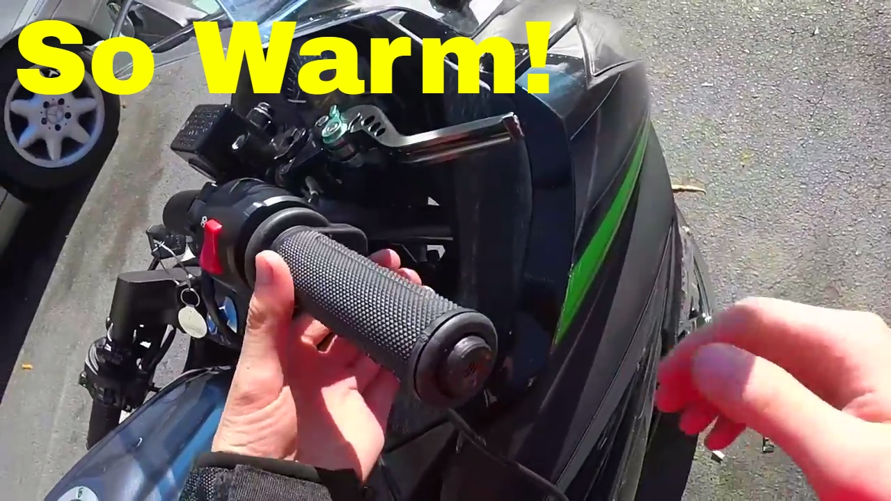Heated motorcycle gloves vs heated grips - Installing Oxford Motorcycle Heated Grips
