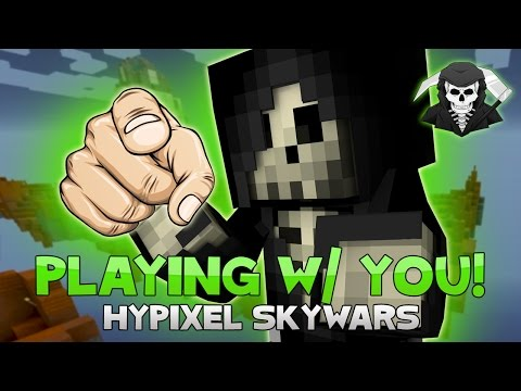 PLAYING SKYWARS WITH RANDOM SUBSCRIBERS! ( Hypixel Skywars )