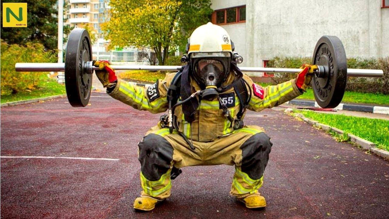 世界の消防士の筋トレが凄くカッ...