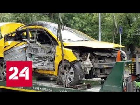 Водитель въехавшего в столб такси мог уснуть за рулем