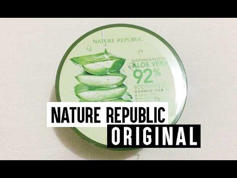 Nature Republic Aloe Vera Soothing Gel Asli/Original + Toko yang jual (Bahasa Indonesia)