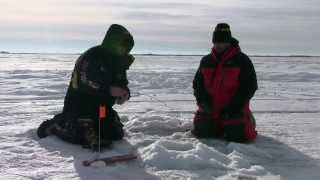 Ice Fishing on Last Mountain Lake, Saskatchewan