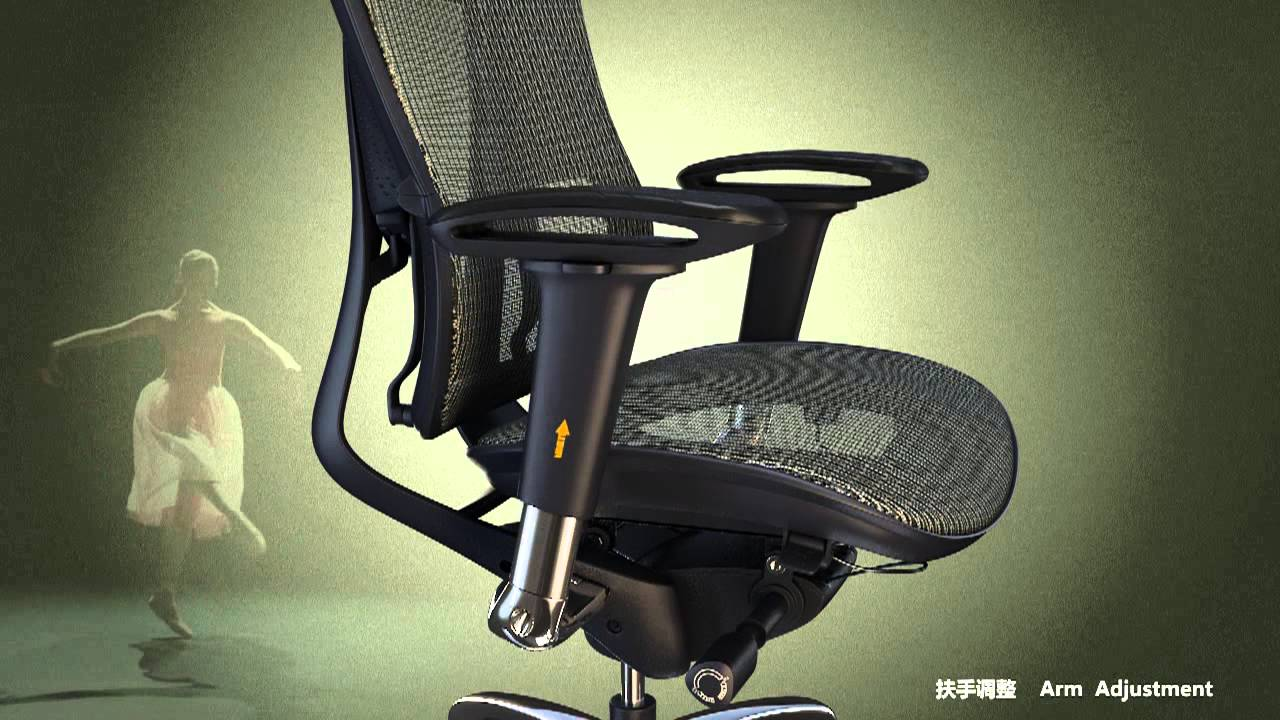 Office Chair With Adjustable Arms Ergonomic Large Person Viva Latest High Back Mesh Headrest And Seat Youtube
