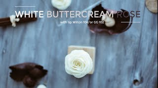 Buttercream rose piping tutorial  - Cách bắt hoa hồng từ kem bơ
