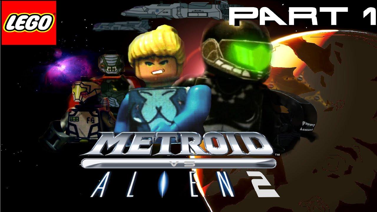 LEGO METROID VS ALIEN 2 PART 1 - YouTube