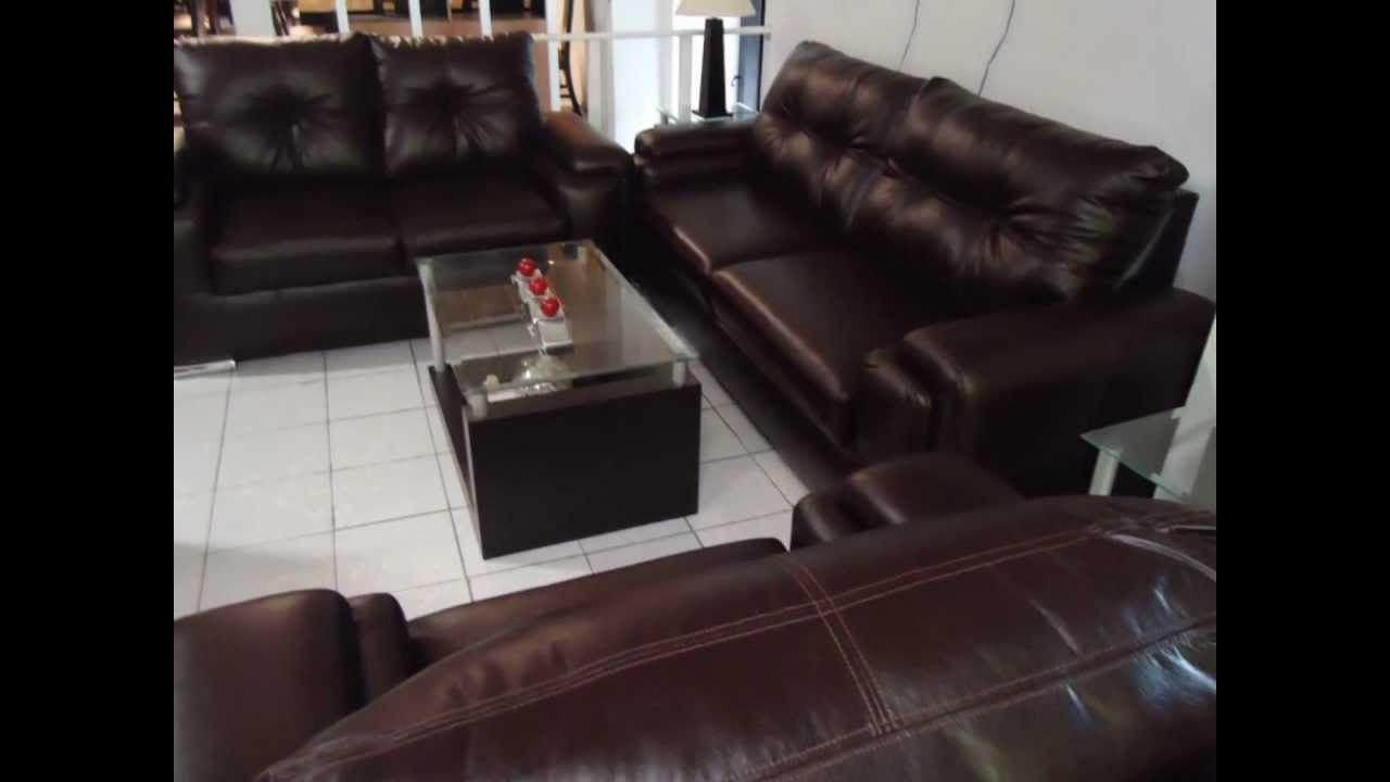 Salas en monterrey juego de salas muebleria angela youtube for Juego de sala precios