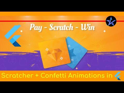 Scratch Card App in Flutter   Scratcher + Confetti animations - Beginners Guide