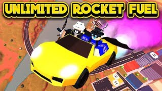 NEW UNLIMITED ROCKET FUEL GLITCH! (ROBLOX Jailbreak)