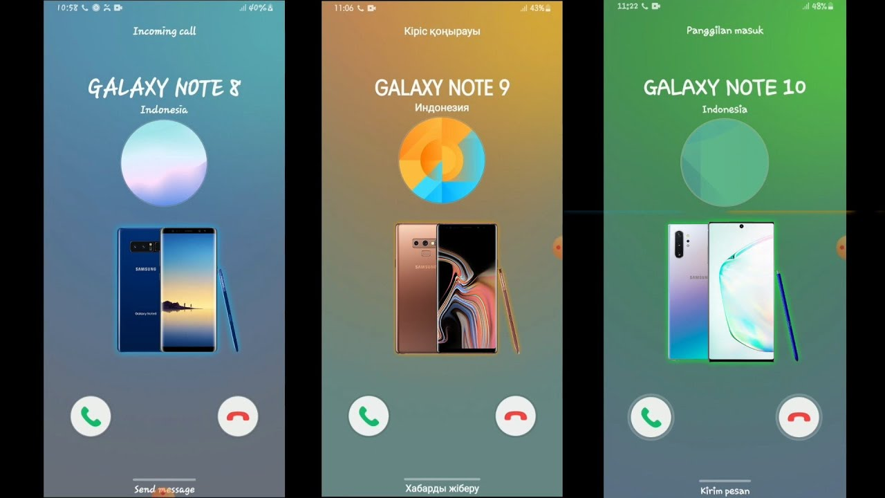 Samsung Note 8 VS Note 9 VS Note 10 incoming Calls Over The Horizon Ringtones