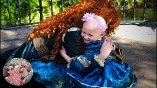 5 year old Malia surprised Merida as her mini twin!!