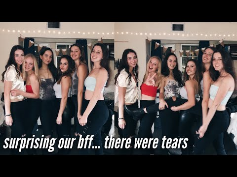 SURPRISING MY BEST FRIEND AT COLLEGE *SHE CRIED*