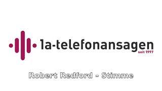 Telefonansage mit Robert Redford Stimme Anrufbeantworter Ansage PKF