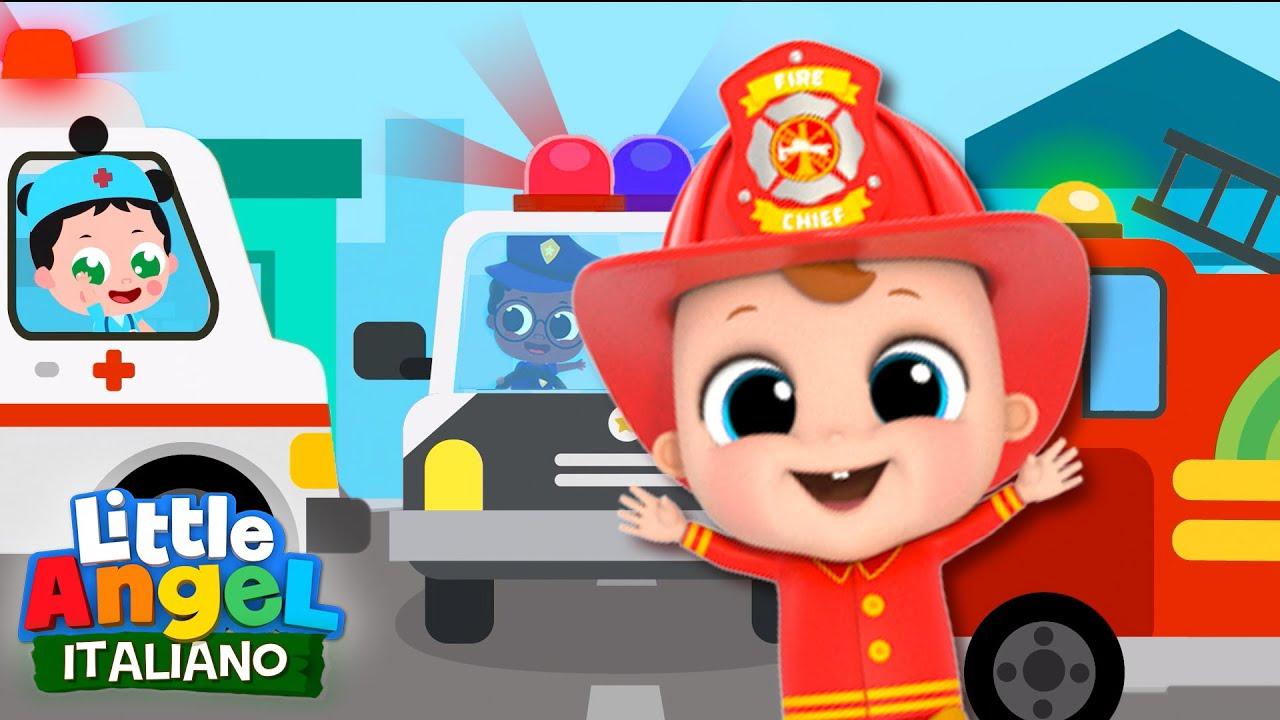 Download Pompiere, Astronauta, Cosa Vuoi Fare? 🚨🌎 Cartoni Animati & Canzoni Bambini | Little Angel Italiano
