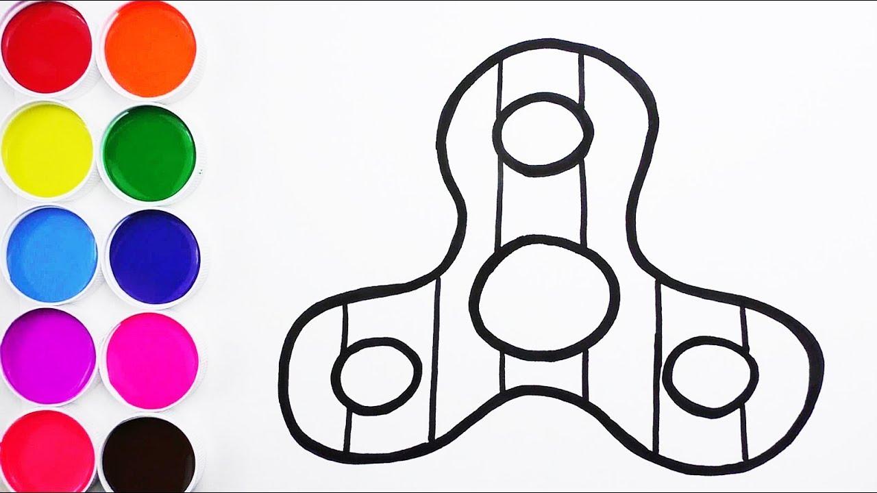Cómo Dibujar y Colorear Spinner de Arco Iris - Color for Kids ...