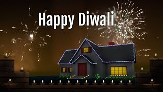Happy Diwali Wishes with fireworks animated video greetings