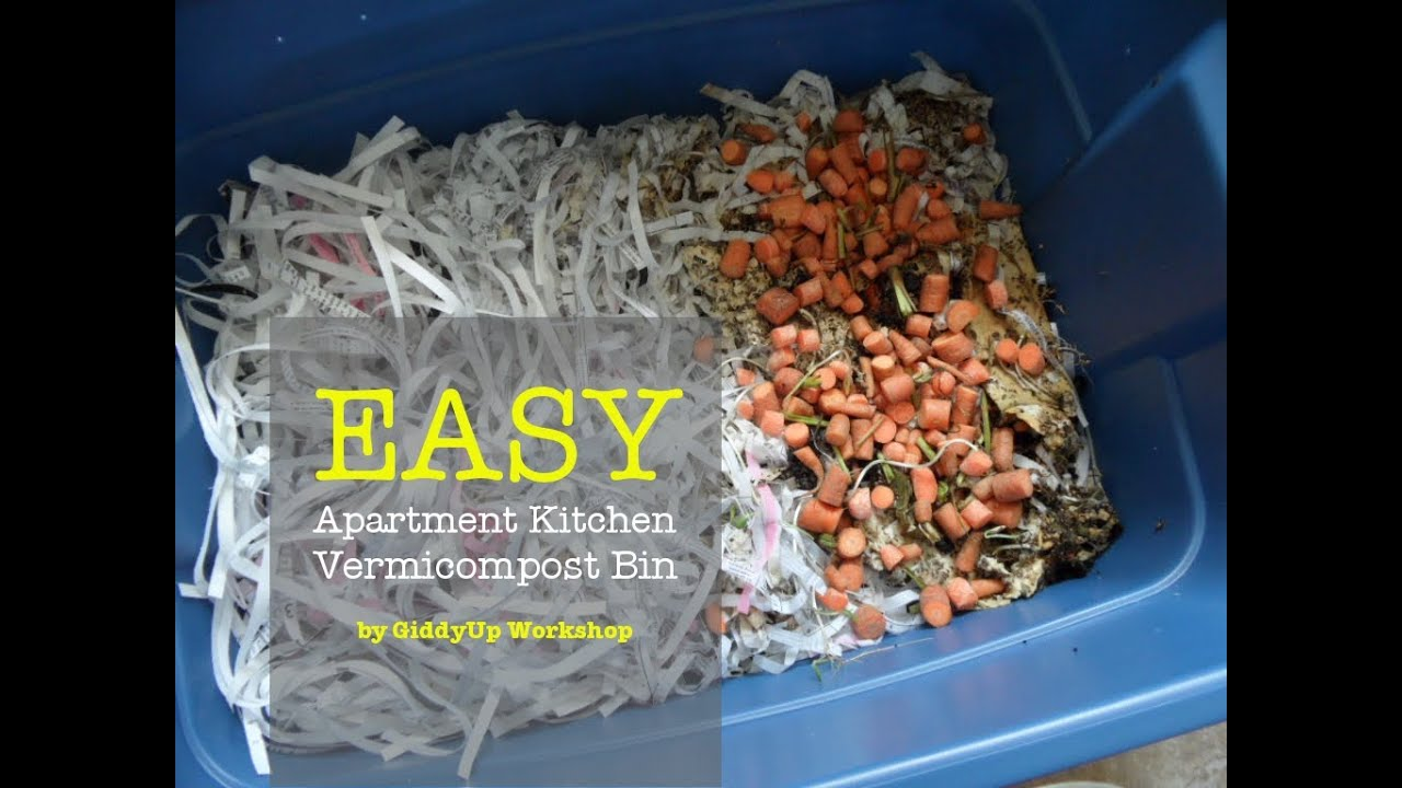 How to Make a Worm BIn - Apartment Vermicomposting - YouTube