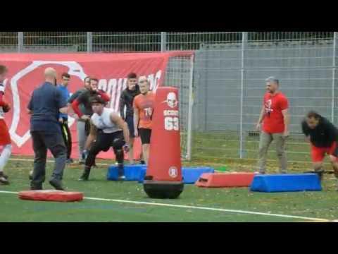 Aaron Jackson - Lübeck Cougars Visit - Training Highlights